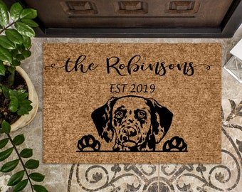 Dalmatian Dog   Personalized Doormat   Custom Doormat   Welcome Mat   Housewarming Gift   Closing Gift   Last Name Door Mat   Puppy