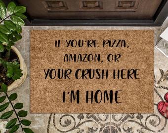 Fully Customized Funny Door Mat    Amazon Pizza   Funny Doormat   Welcome Mat   Funny Door Mat   Funny Gift   Home Doormat   Door Rug