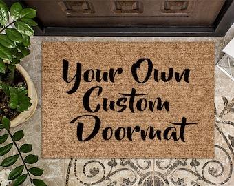 Our Rug, Your Design   Custom Doormat   Have Your Own Art on Doormat   Business Logo Doormat   Personalized Doormat   Door Mat   Front mat