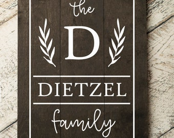 Last Name Sign   Monogram Sign   Family Name Sign   Wheat Family Sign   Personalized Wedding Gift   Pallet Sign   Wedding Sign   Wood Sign