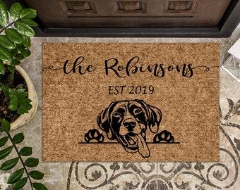 German Shorthaired Pointer Dog   Personalized Doormat   Custom Doormat   Welcome Mat   Housewarming Gift   Closing Gift   Last Name Door Mat
