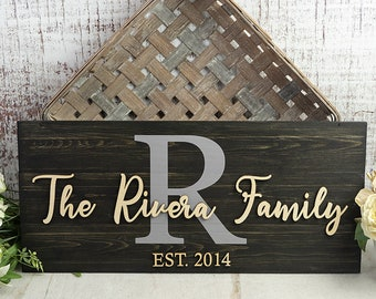Wedding Gift | Last Name Sign | Monogram Sign | Family Name Sign | Anniversary Gift | Established Sign | Pallet Sign | Wedding Sign