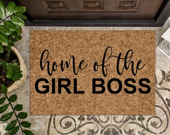Home of the Girl Boss   Funny Doormat   Welcome Mat   Funny Door Mat   Funny Gift   Home Doormat