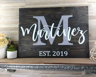 Last Name Sign | Monogram Sign | Family Name Sign | Established Sign | Personalized Wedding Gift | Pallet Sign | Wedding Sign | Wood Sign