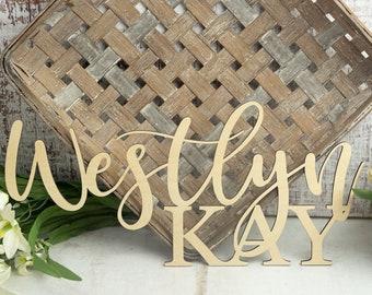 3D Name Cutout | Laser Cut Name | Custom Name Sign | Baby Name Sign | Wood Cutout Name | Wood Name | Nursery Name
