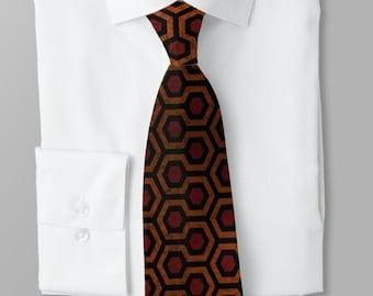 horror theme wedding Horror movie fan Overlook Hotel carpet The Shining Inspired Bow Tie Stanley Kubrick self tie bow tie Stephen King