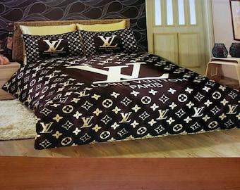 Louis Vuitton Style Satin Bedding Sheet Set Dhl Express Shipping 3 5 Business Days