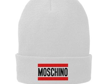 66b42628e87 Moschino Winter Hat - Skull Cap - Beanie Black 3077
