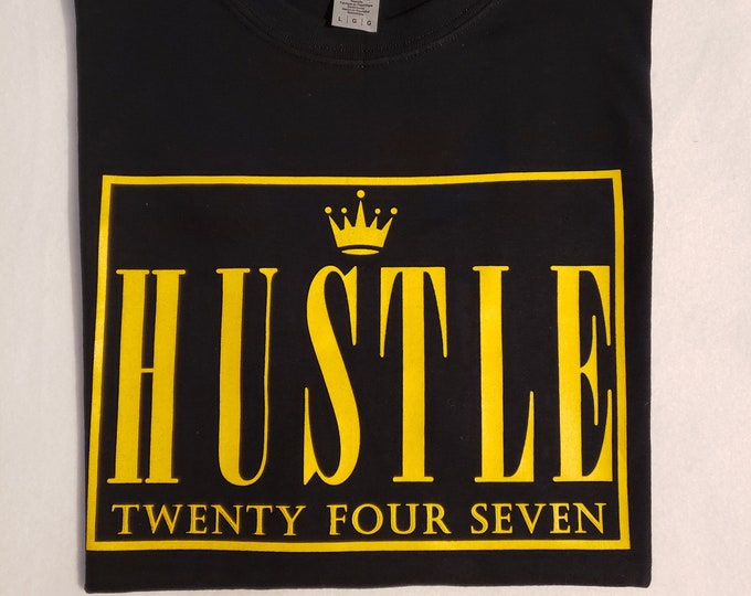 Hustle 24/7 Black Short Sleeve Cotton Shirt