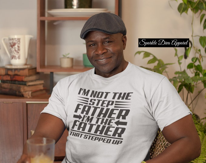 I'm The Step Father Cotton Shirt With Vinyl Letters