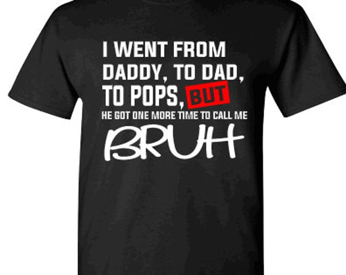 Fathers Day Bruh Black Short Sleeve Shirt