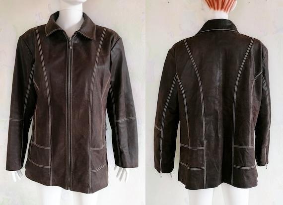 Jackie Brown Leather Jacket, Vintage Women's Jacke