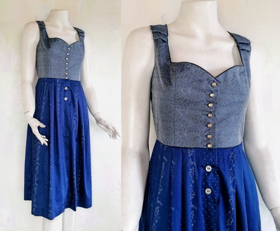 Original Czech Republic Dirndl Dress, Vintage Dirn