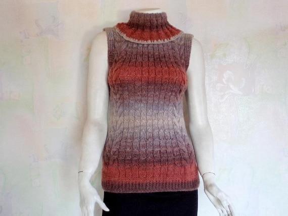 Sleeveless Turtleneck Sweater Women's Sleeveless T