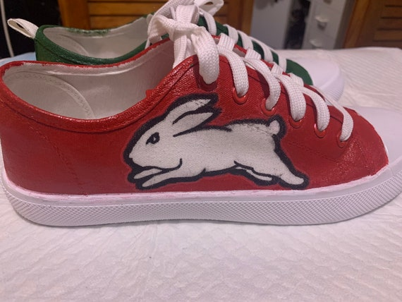 South Sydney Rabbitohs Hand Painted Shoes Etsy