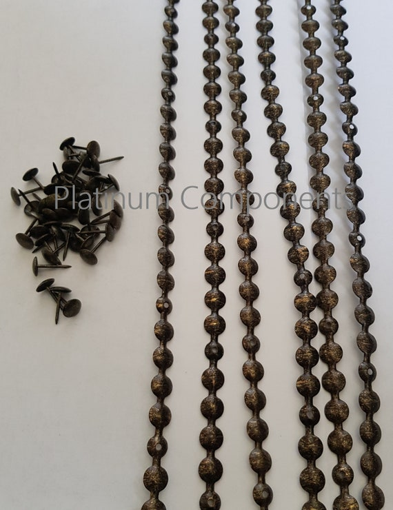 TACKS STUDS STRIPS  FROM 1 METERS NEW SILVER UPHOLSTERY NAILS 5 METERS