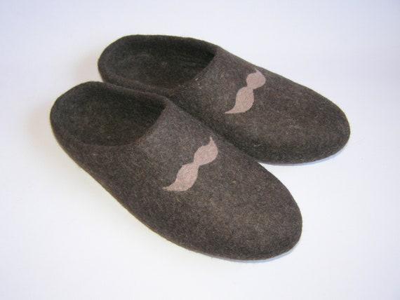 Men slippers Slippers Handmade felt