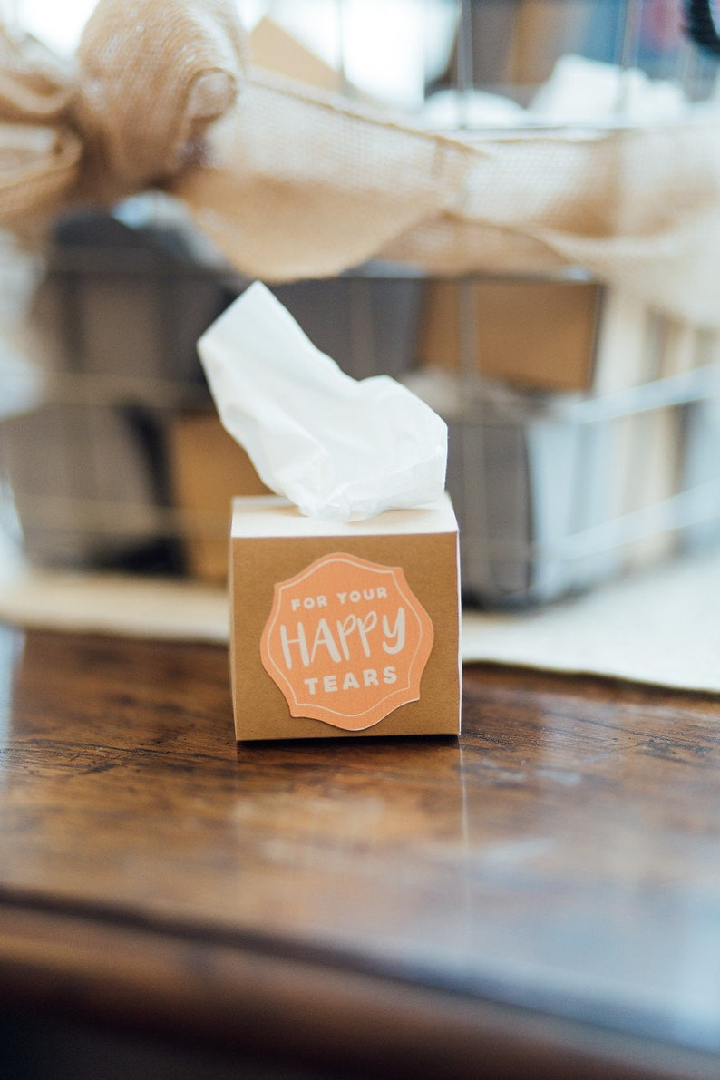 For your happy tears mini tissue boxes