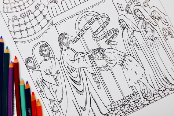 It's just a graphic of Lent Coloring Pages Printable within catholic