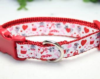 Embroidered Dog Collar Camping Dog Collar Pink Collar Personalized Dog Collar Racoon Dog Collar Dog Collar Collar