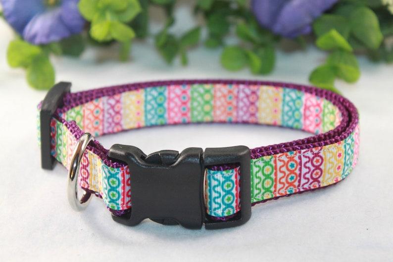 8b25d3f324cb Medium dog collar   Medium Pastel dog collar Colorful Dog