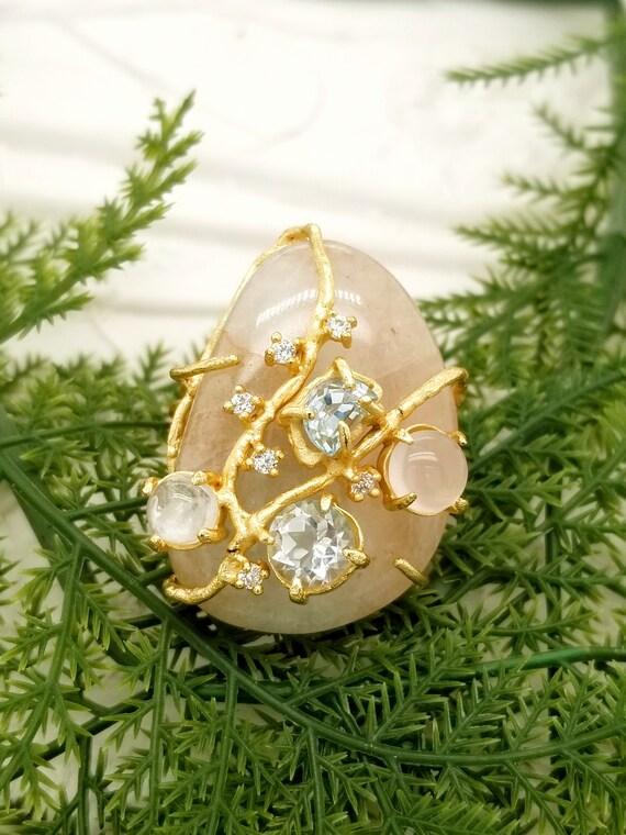 Natural Cabochon Rose Quartz 495.50 Carat 5 Pieces Mix Shape Loose Gemstone