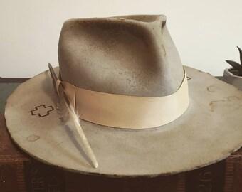 2902a4bc542 Heavily Distressed Fur Felt Hat