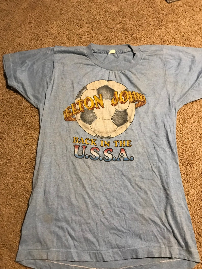 446c0e97d09 Vintage Elton John Back in the USSA Shirt Womens Large