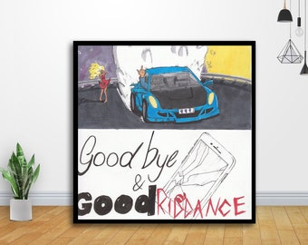 Juice Wrld Fabric Poster New Hip Hop Rapper Music Star Home Decor H-515