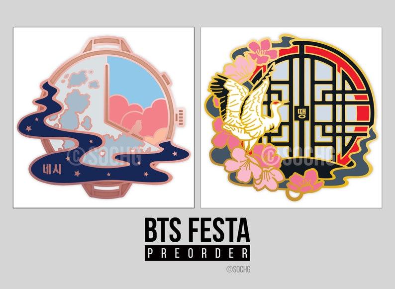 BTS Festa pins