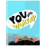 You Are Worthy, Christian kids gifts, motivational illustrated notebook, kids faith notebook