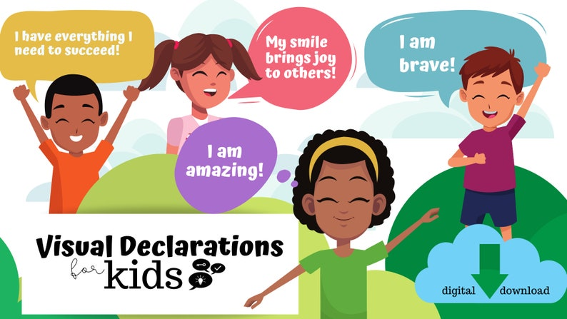 Personalized Visual Declaration for Kids Faith kids wall art image 0