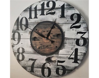 Farmhouse Wall Clock Etsy