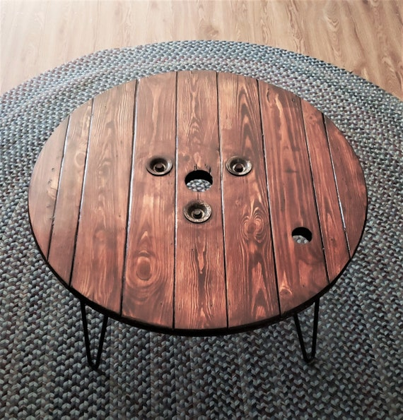 Swell 20 30 Farmhouse Wood Spool Round Coffee End Side Pub Dining Table 20 22 24 26 28 30 Inch Tables 16 18 22 28 34 Hairpin Legs Lamtechconsult Wood Chair Design Ideas Lamtechconsultcom