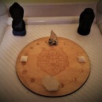 Phases of the Moon Wolf Crystal Altar - Meditation Crystal Grid