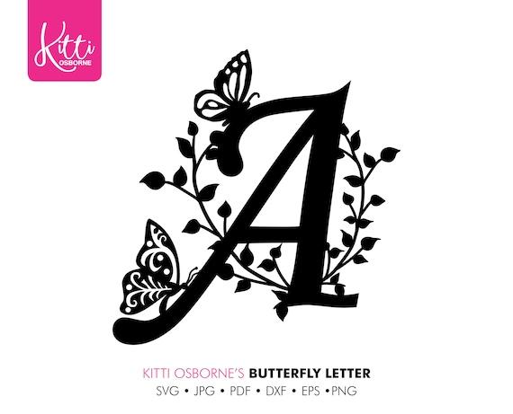 Decorative Letter A.Decorative Letter A Svg Paper Cut Template Instant Download