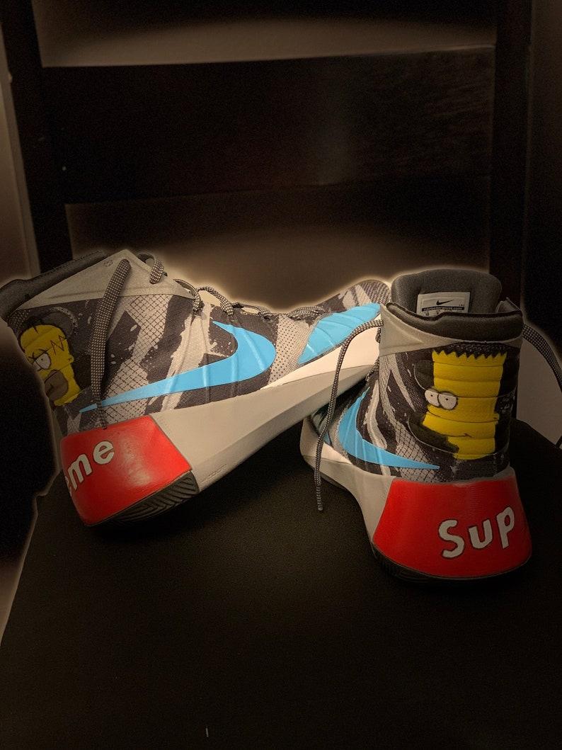 d2bf4fc18 The Simpsons Nike Hyperdunk 2015 Premium Supreme Shoes Bart