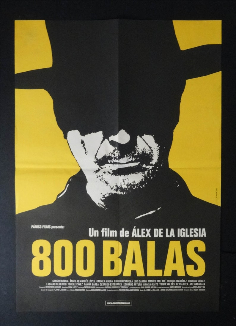 Western Original Spanish Print 800 Balas Cowboy Poster Movie
