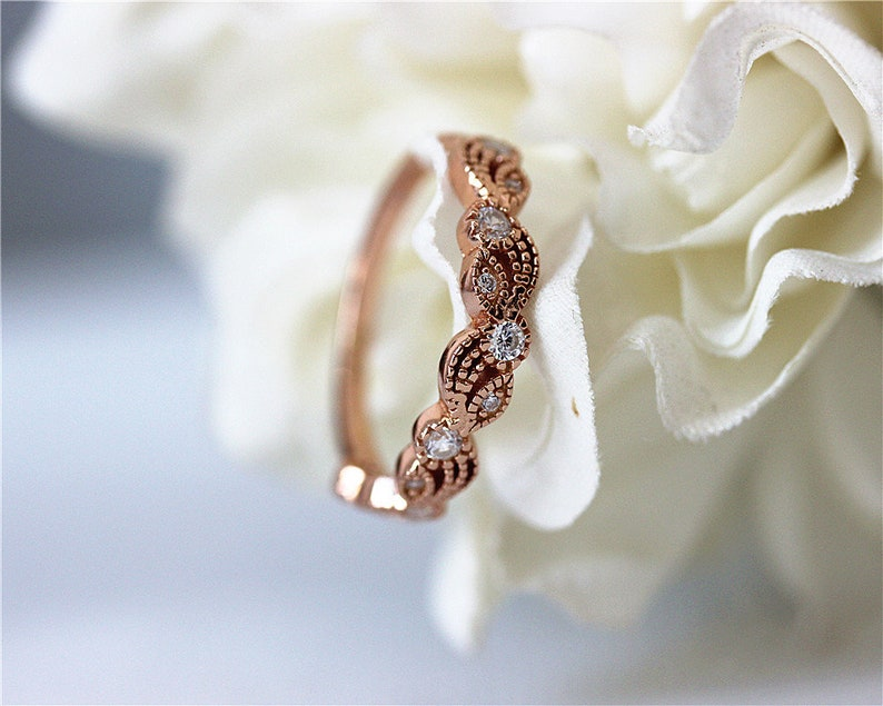 Silver Ring Cubic Zirconia Ring Gemstone Ring Engagement Ring Wedding Ring Anniversary Ring Handmade Ring Rose Gold Plated Ring