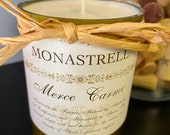 Thyme scented soy wine bottle candle — Merce Carme Spanish Monastrell