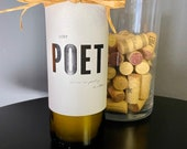 Vanilla scented soy wine bottle candle — Lost Poet California Red Blend