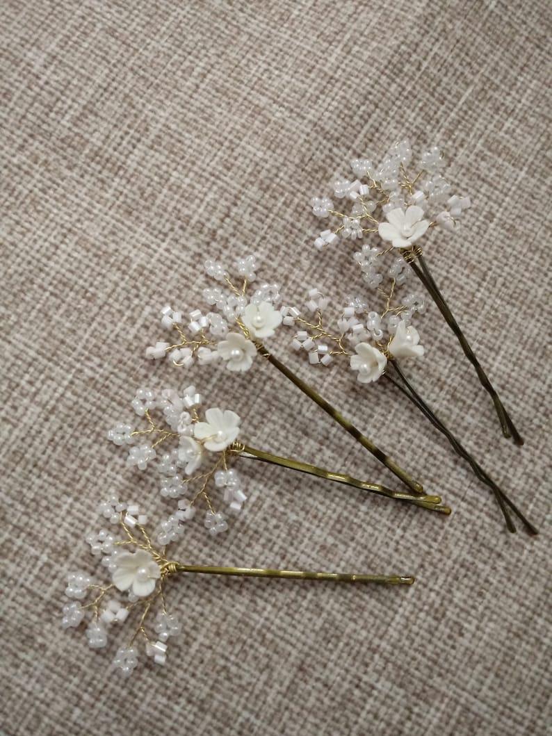 Set of 5 Handmade Hair Pins