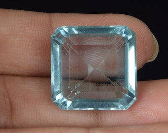 Aquamarine Gemstone,Natural Aquamarine,Loose Aquamarine,Faceted Aquamarine cushion,aquamarine jewelry,mothers day gifts9X9X5MM sz,2.60 Cts