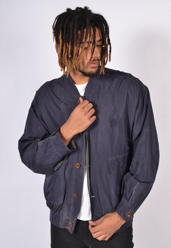Vintage 90s | Silk | Bomber Jacket | Mens | Unisex