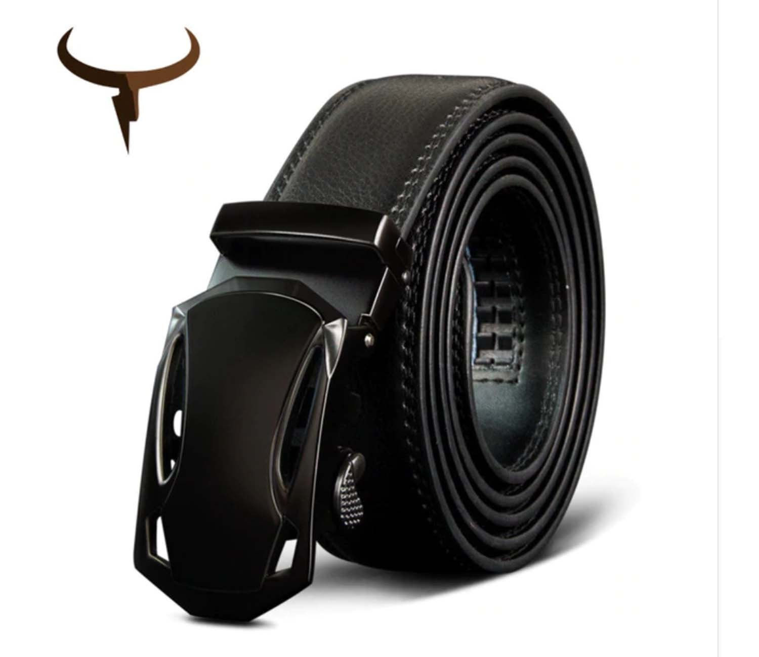 Men/'s fashion100/% Genuine Leather belts for men High quality metal pin buckle St