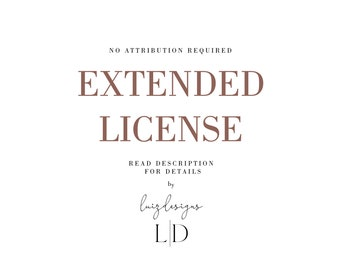 Extended commercial license 100+ uses