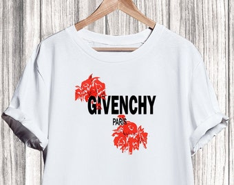 0710af935 Givenchy T-shirt, Givenchy Roses Shirt, Givenchy Tshirt For Men Women,  Givenchy Inspired, Givenchy Shirt, Givenchy Clothing, Designer