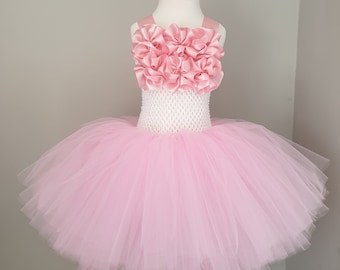 2baa2e304d Girls pink party tutu dress flower girl special occasion age 4-5 years