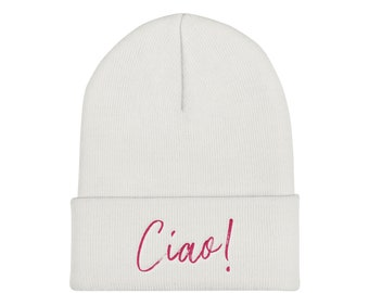 3fd7832c658 Cuffed Beanie • Embroidered Ribbed Hat • Cute Beanie • Workout Beanie • Funny  Beanie • Knitted Hat • Embroidered Beanie