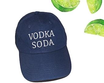 6d80b97103d Vodka Soda Close It Embroidered Hat Navy